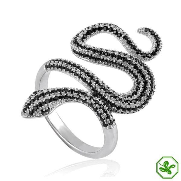 Snake Ring Gold Diamond 3