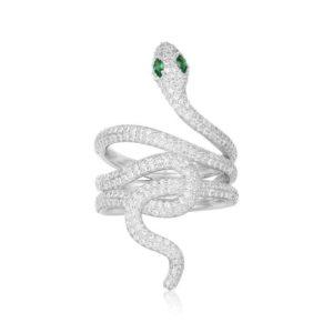 Snake Ring Green Eyes 1