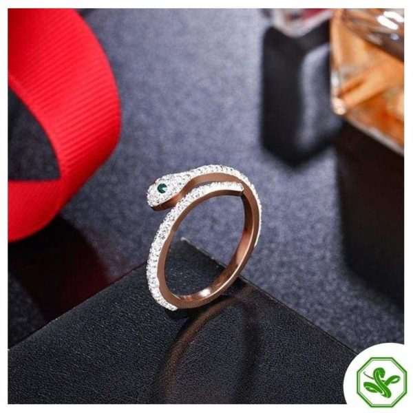 Snake Ring Rose Gold 7