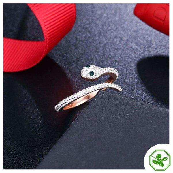 Snake Ring Rose Gold 6
