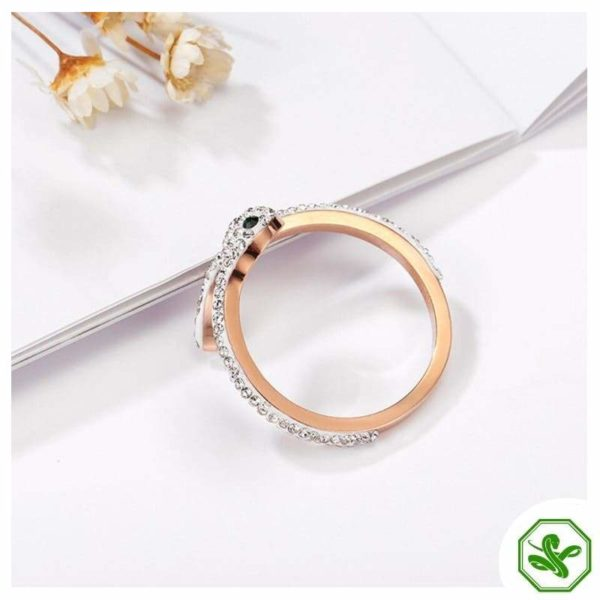 Snake Ring Rose Gold 5
