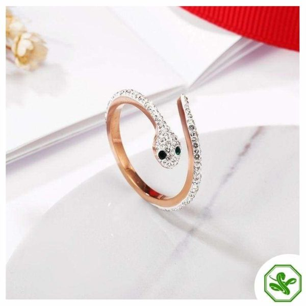 Snake Ring Rose Gold 8