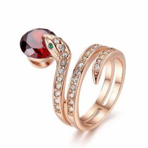 Snake Ring Ruby 1