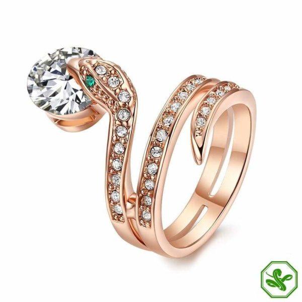 Snake Ring Ruby 9