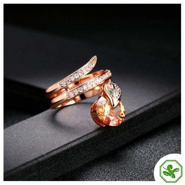 Snake Ring Ruby 7