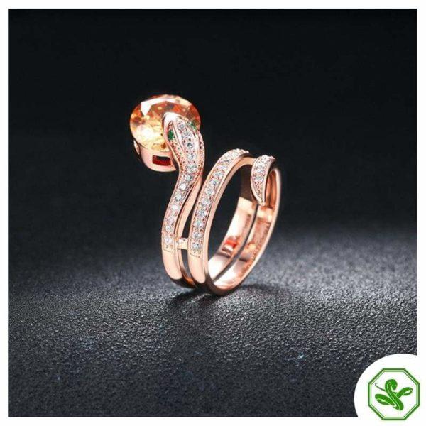 Snake Ring Ruby 8