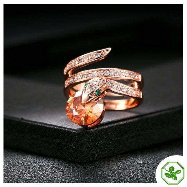 Snake Ring Ruby 6