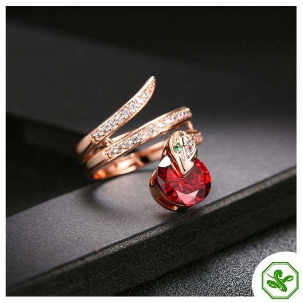 Snake Ring Ruby 2