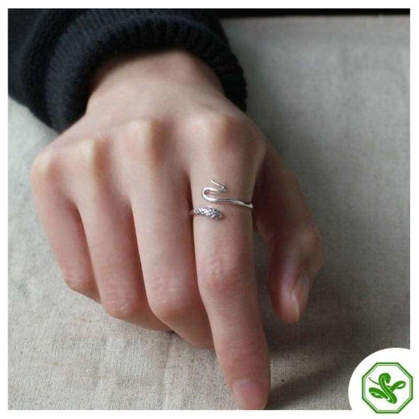 Women's Snake Ring Silver 5
