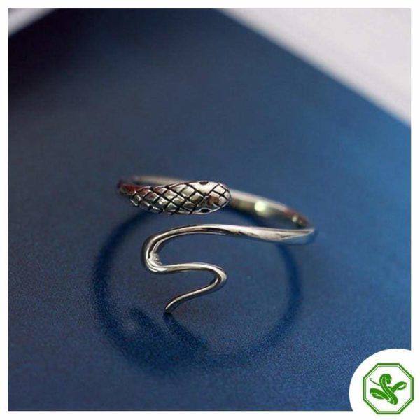 Women's Snake Ring Silver 3