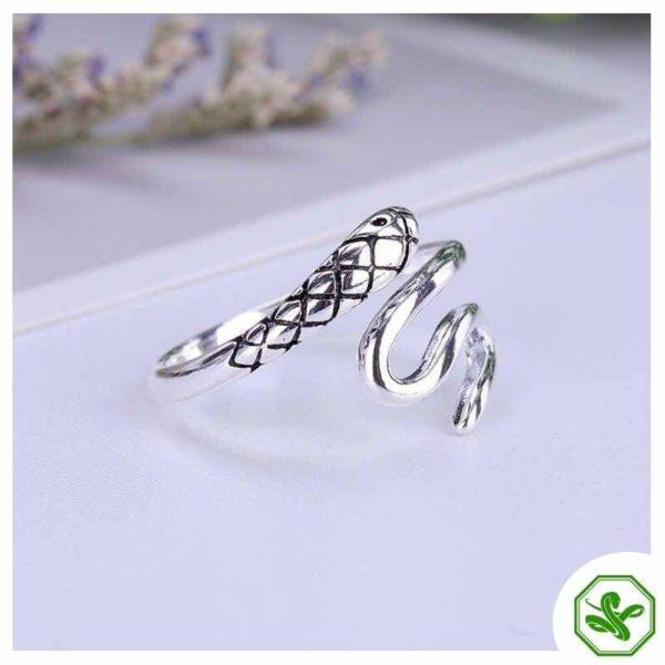 Women's Snake Ring Silver 7