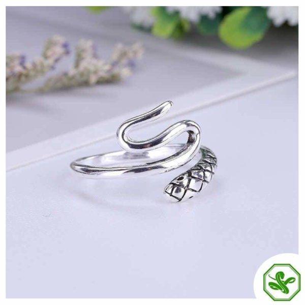 Women's Snake Ring Silver 2