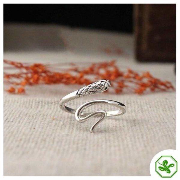 Women's Snake Ring Silver 8