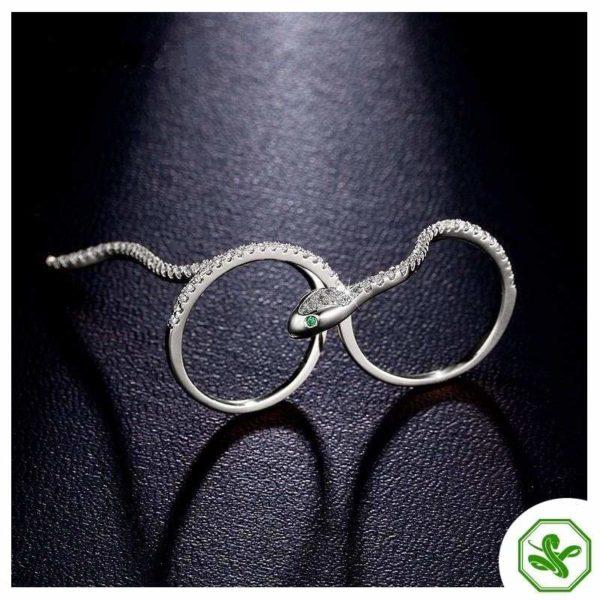 Snake Ring Two Fingers 6