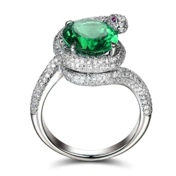 snake-ring-with-green-stone 1
