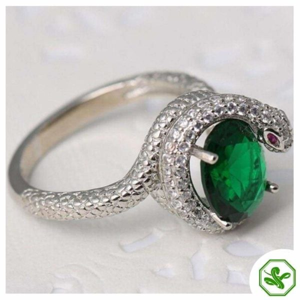 snake-ring-with-green-stone 3