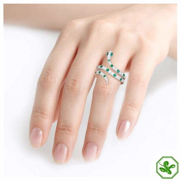 rhinestone snake ring