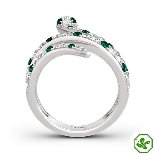 luxury snake ring green