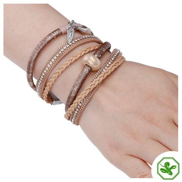 woman snakeskin leather bracelet