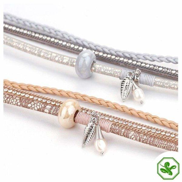 snakeskin effect bracelet