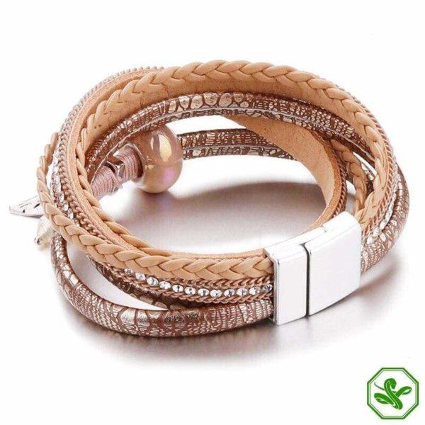snake skin leather bracelet