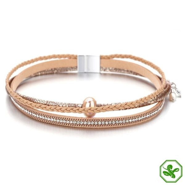 snake skin leather bracelet material