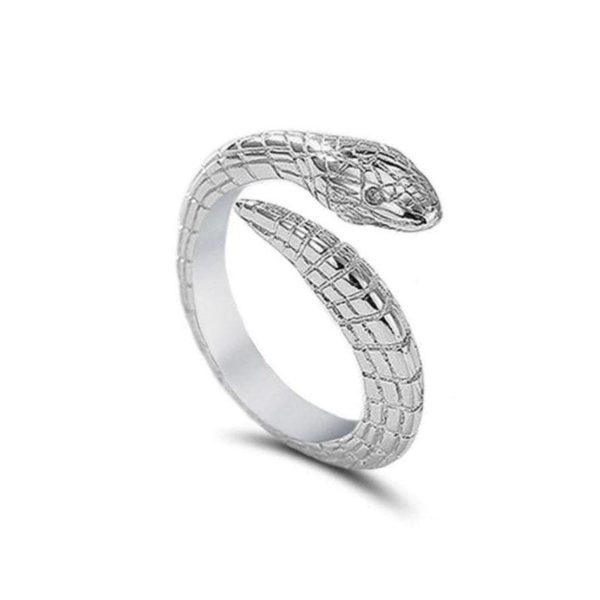 snake-silver-engagement-ring 1