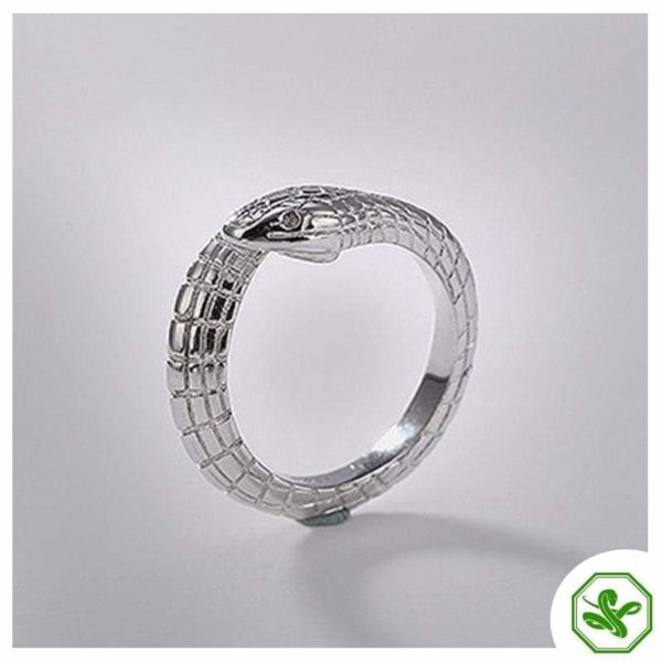 snake-silver-engagement-ring 2
