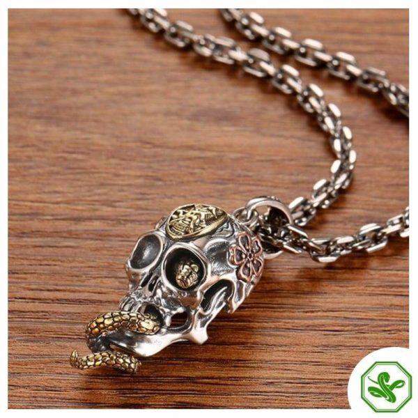 Snake Skull Necklace 4