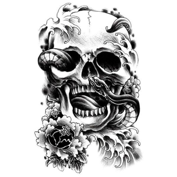 Snake Skull Tattoo 1