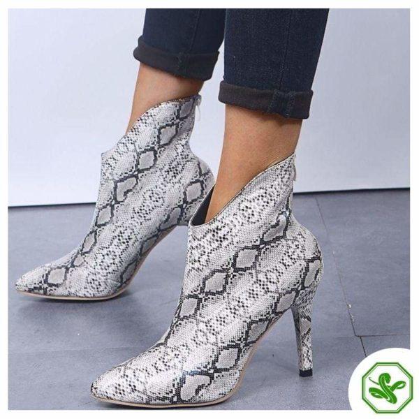 Snake Thigh High Boots 3