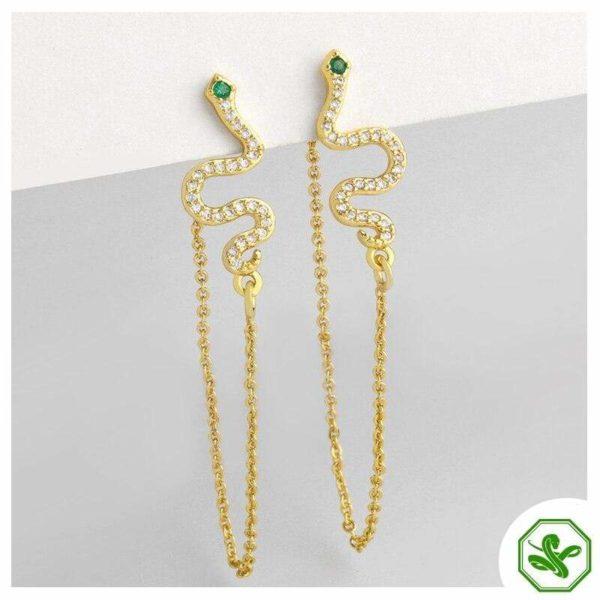 Snake Threader Earrings 4
