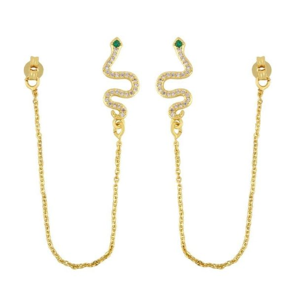 Snake Threader Earrings 1