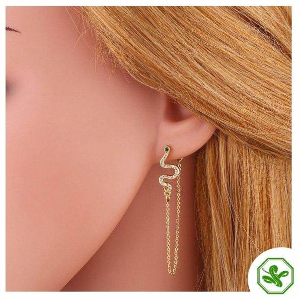Snake Threader Earrings 3