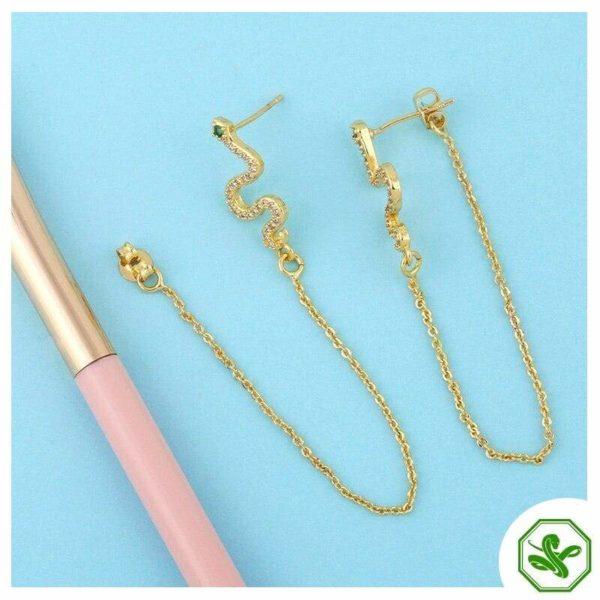 Snake Threader Earrings 2