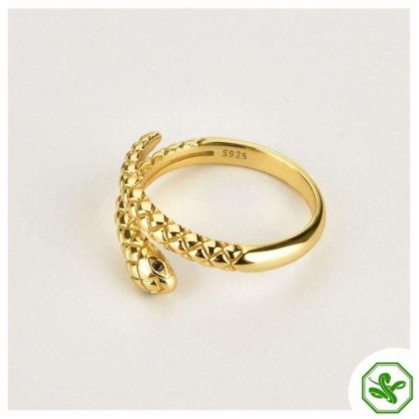 gold snake ring woman