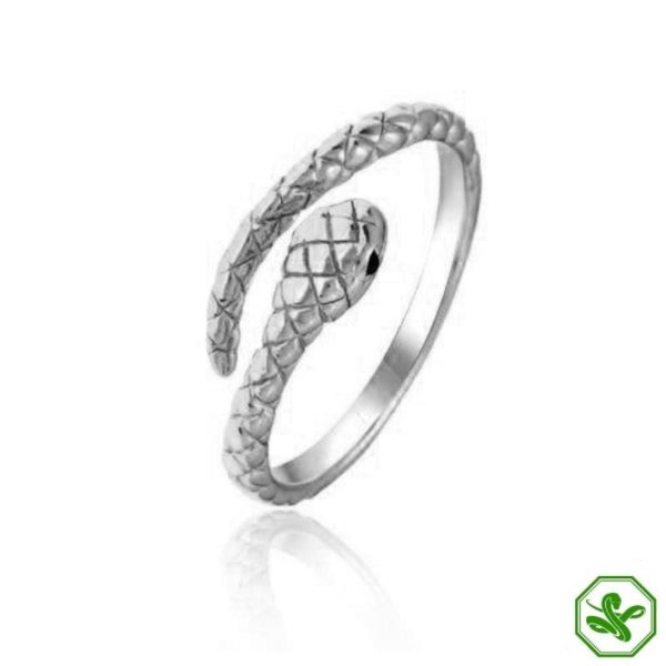 silver snake ring for woman