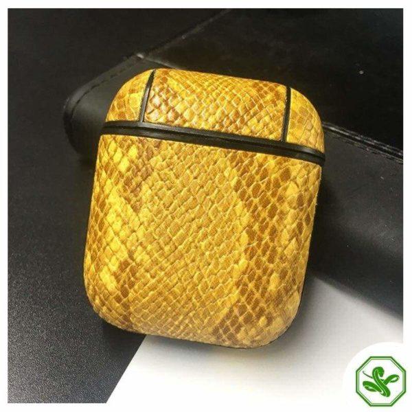 Snakeskin Airpod Case Yellow