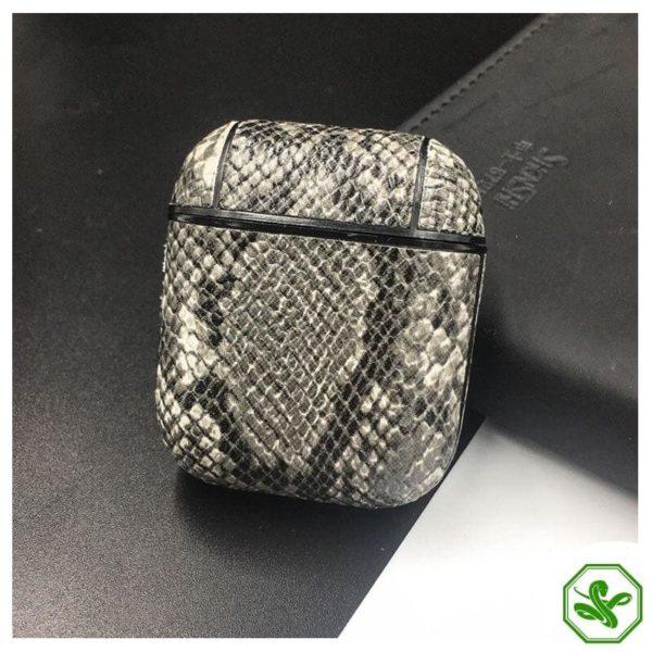 Snakeskin Airpod Case Grey