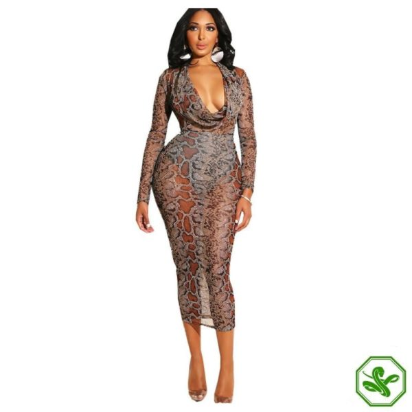 Snakeskin Bodycon Dress 6