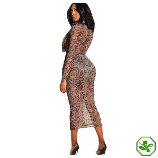 Snakeskin Bodycon Dress 5