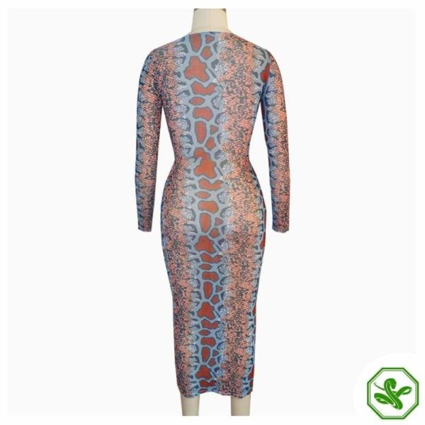 Snakeskin Bodycon Dress 4