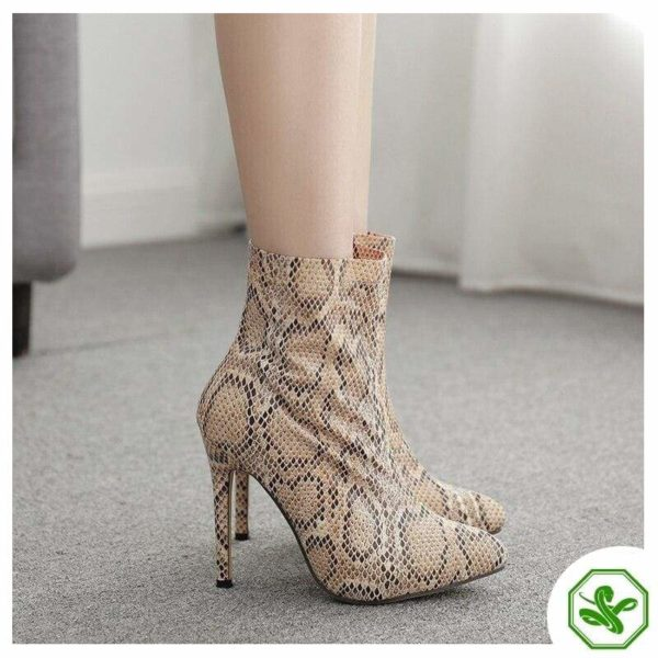 Snakeskin Boots Thigh High 5