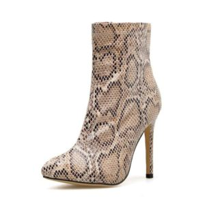 Snakeskin Boots Thigh High 1