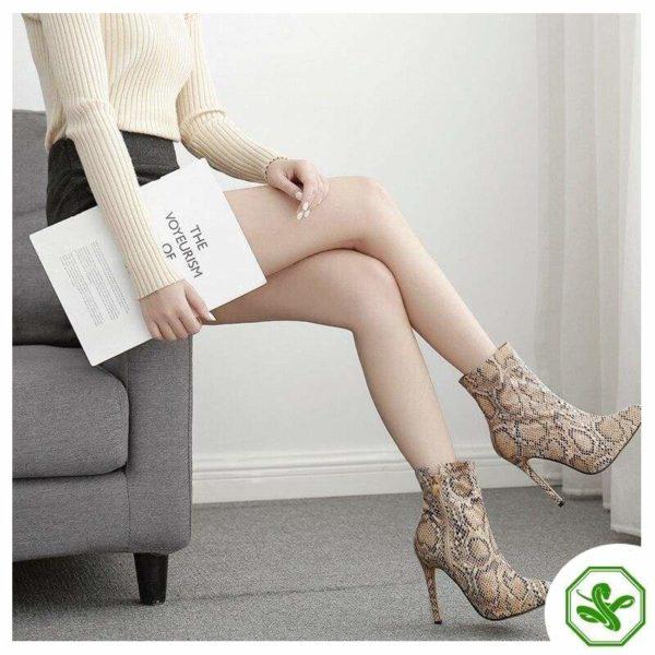 Snakeskin Boots Thigh High 3