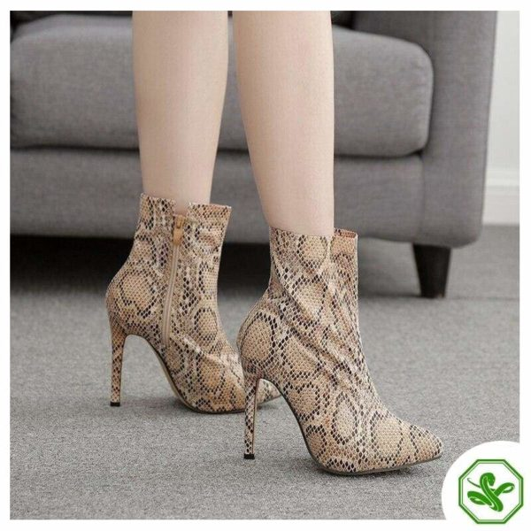 Snakeskin Boots Thigh High 4