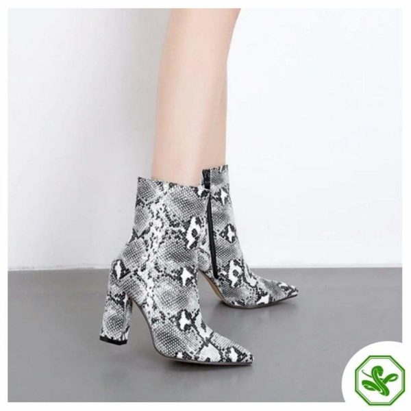 snakeskin boots for woman