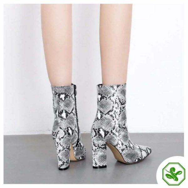 women snakeskin boots
