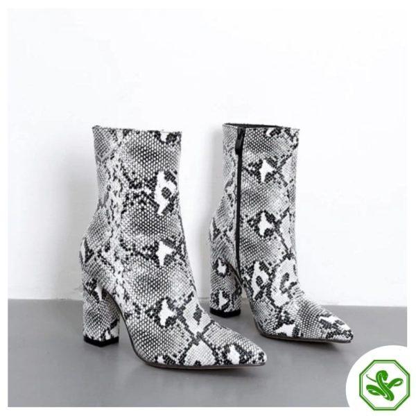 snakeskin boots women