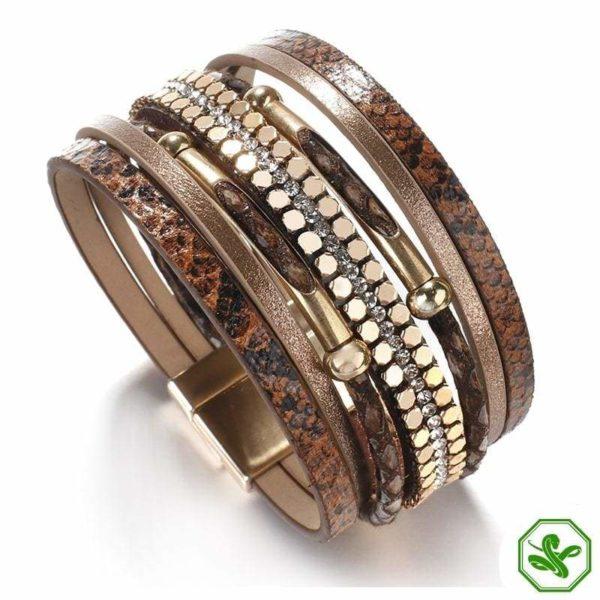 brown snakeskin bracelet